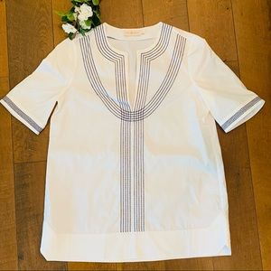 TORY BURCH | Embroidered Blouse Top
